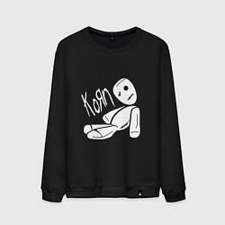 Свитшот хлопковый мужской Korn Toy цвета черный — фото 1