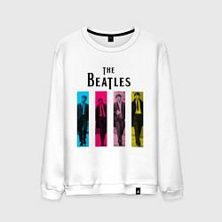 Свитшот хлопковый мужской Walking Beatles цвета белый — фото 1