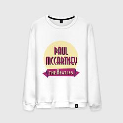 Свитшот хлопковый мужской Paul McCartney: The Beatles цвета белый — фото 1
