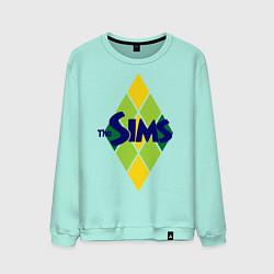Свитшот хлопковый мужской The Sims цвета мятный — фото 1