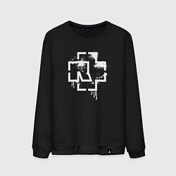 Свитшот хлопковый мужской Rammstein: White Logo цвета черный — фото 1
