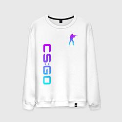 Свитшот хлопковый мужской CS GO NEON цвета белый — фото 1