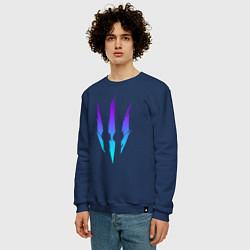 Свитшот хлопковый мужской ВЕДЬМАК цвета тёмно-синий — фото 2