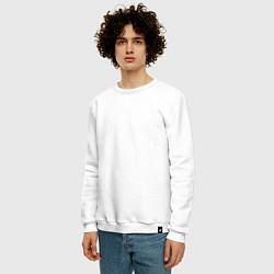 Свитшот хлопковый мужской Git gud цвета белый — фото 2
