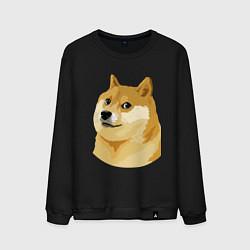 Свитшот хлопковый мужской Doge цвета черный — фото 1