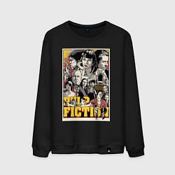 Свитшот хлопковый мужской Pulp Fiction Stories цвета черный — фото 1
