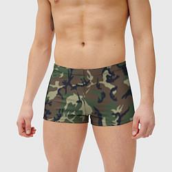 Мужские плавки Камуфляж: хаки/зеленый цвета 3D — фото 2