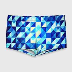 Мужские плавки Синяя геометрия