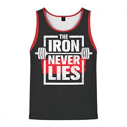 Майка-безрукавка мужская The iron never lies цвета 3D-красный — фото 1