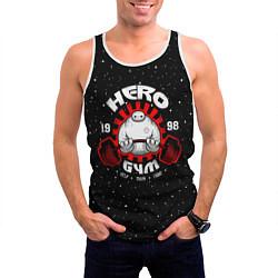 Майка-безрукавка мужская Hero Gym цвета 3D-белый — фото 2