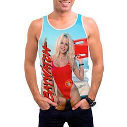 Майка-безрукавка мужская Baywatch: Pamela Anderson цвета 3D-белый — фото 2