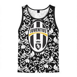 Майка-безрукавка мужская FC Juventus: Floral Logo цвета 3D-черный — фото 1