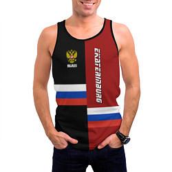 Майка-безрукавка мужская Ekaterinburg, Russia цвета 3D-черный — фото 2