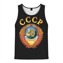 Мужская 3D-майка без рукавов с принтом Советский Союз, цвет: 3D-черный, артикул: 10149951904123 — фото 1