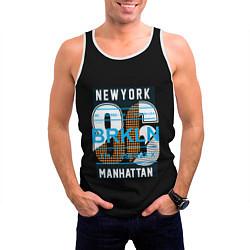 Майка-безрукавка мужская New York: Manhattan 86 цвета 3D-белый — фото 2