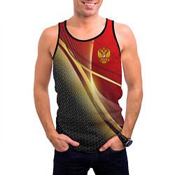 Майка-безрукавка мужская RUSSIA SPORT: Gold Collection цвета 3D-черный — фото 2