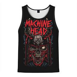 Майка-безрукавка мужская Machine Head: Blooded Skull цвета 3D-черный — фото 1