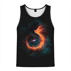 Майка-безрукавка мужская Космический Феникс цвета 3D-черный — фото 1