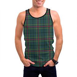 Майка-безрукавка мужская Шотландка цвета 3D-черный — фото 2