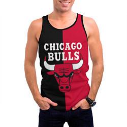 Майка-безрукавка мужская Чикаго Буллз цвета 3D-черный — фото 2