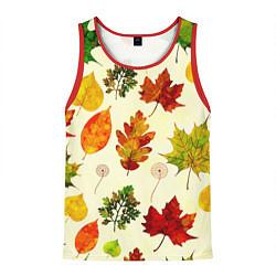 Майка-безрукавка мужская Осень цвета 3D-красный — фото 1