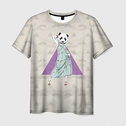 Футболка мужская Panda Girl: yes yes? цвета 3D — фото 1