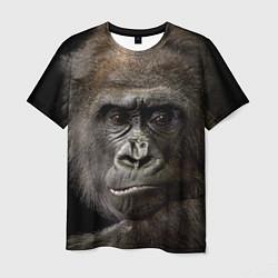 Футболка мужская Глаза гориллы цвета 3D-принт — фото 1