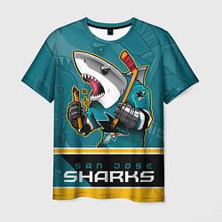 Футболка мужская San Jose Sharks цвета 3D-принт — фото 1