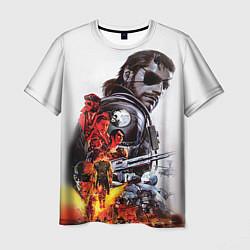 Футболка мужская Metal gear solid 2 цвета 3D-принт — фото 1