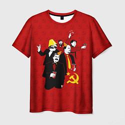 Футболка мужская Communist Party цвета 3D-принт — фото 1