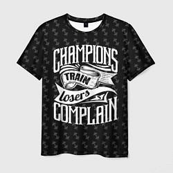 Футболка мужская Champions Train цвета 3D — фото 1