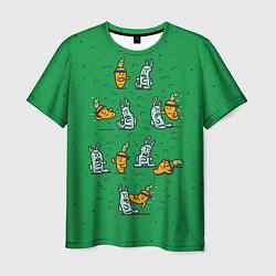 Мужская 3D-футболка с принтом Боевая морковь, цвет: 3D, артикул: 10117527203301 — фото 1