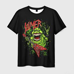 Футболка мужская Slayer Slimer цвета 3D-принт — фото 1