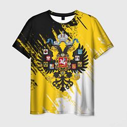 Футболка мужская Имперский флаг и герб цвета 3D — фото 1