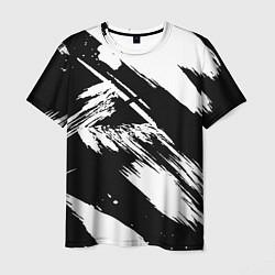 Футболка мужская Чёрно-белый цвета 3D — фото 1
