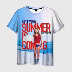Футболка мужская Summer is coming цвета 3D-принт — фото 1