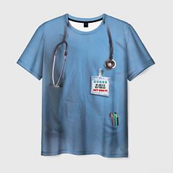 Футболка мужская Костюм врача цвета 3D — фото 1