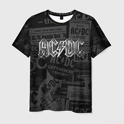 Мужская 3D-футболка с принтом AC/DC: Journalese, цвет: 3D, артикул: 10141190303301 — фото 1