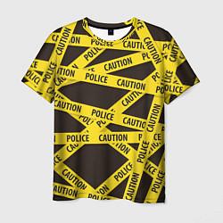 Футболка мужская Police Caution цвета 3D-принт — фото 1