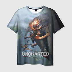 Футболка мужская Uncharted: The Lost Legacy цвета 3D-принт — фото 1