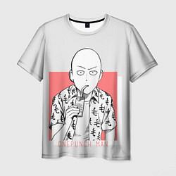 Мужская 3D-футболка с принтом Saitama: One-Punch Man, цвет: 3D, артикул: 10170868103301 — фото 1