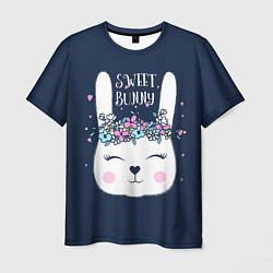 Мужская 3D-футболка с принтом Sweet Bunny, цвет: 3D, артикул: 10171329503301 — фото 1