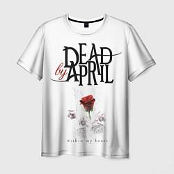 Футболка мужская Dead by April цвета 3D-принт — фото 1