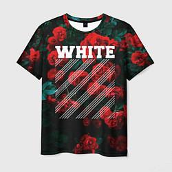 Футболка мужская Off-White: Roses Fashion цвета 3D — фото 1