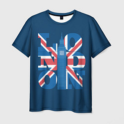 Футболка мужская London: Great Britain цвета 3D — фото 1