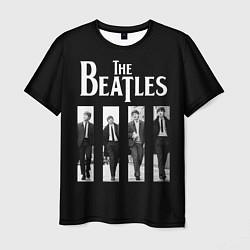 Футболка мужская The Beatles: Black Side цвета 3D-принт — фото 1