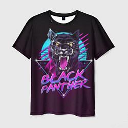 Футболка мужская Black Panther 80s цвета 3D-принт — фото 1