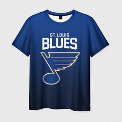 Футболка мужская St Louis Blues цвета 3D-принт — фото 1