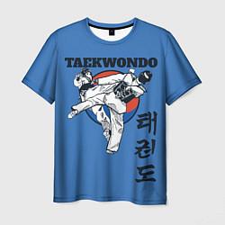 Футболка мужская Taekwondo цвета 3D-принт — фото 1