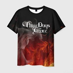 Футболка мужская Three Days Grace цвета 3D — фото 1
